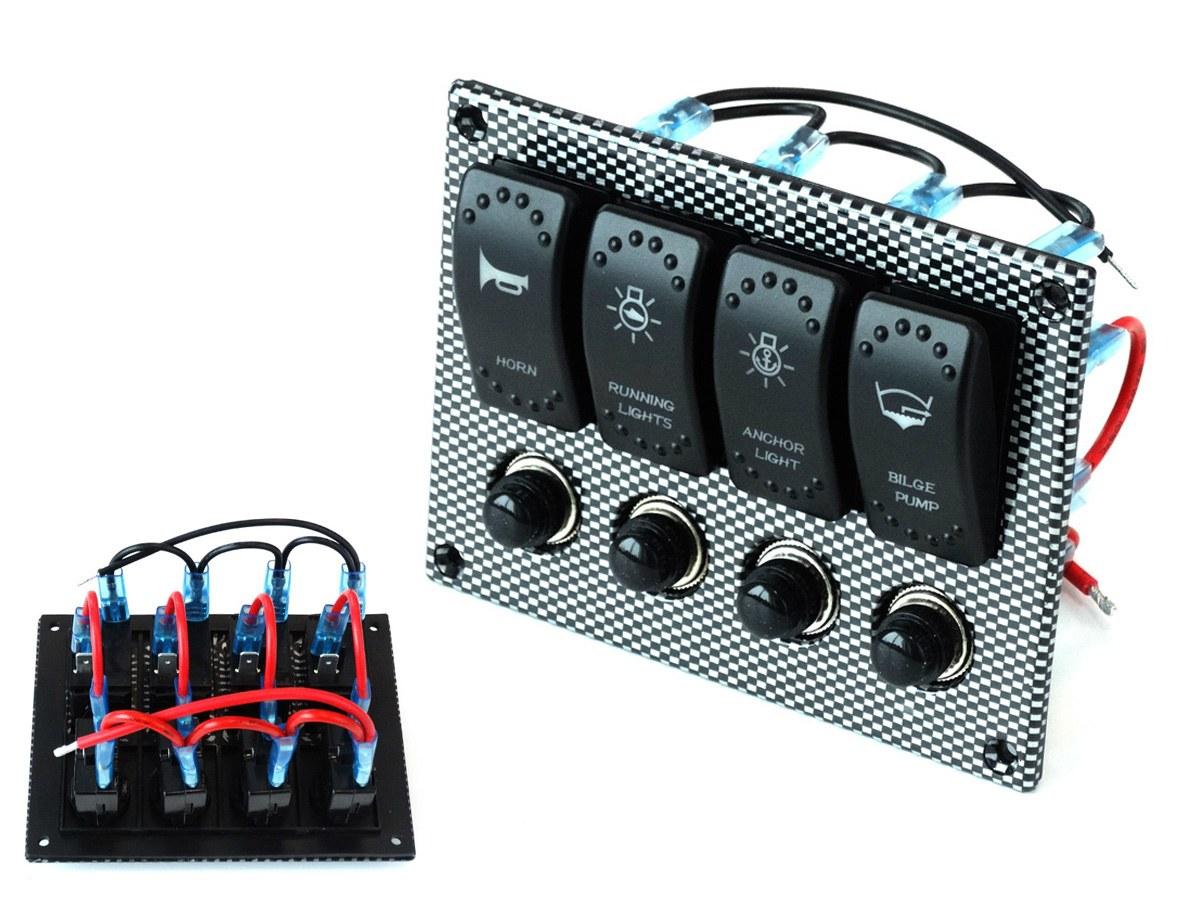 Przełączniki 12/24V x4 IP68 - GRUBYGARAGE - Sklep Tuningowy